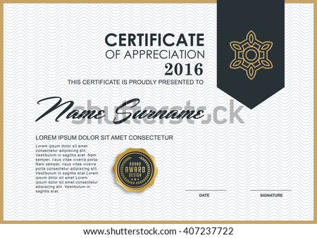 Certificate Template Images RoyaltyFree Images Vectors – Certificate Template