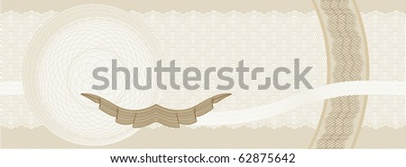 Certificate  template with complex guilloche patterns, grouped and organized for easy modifications (colour change etc). Created by lines, and appropriate for HQ professional printing - stock vector