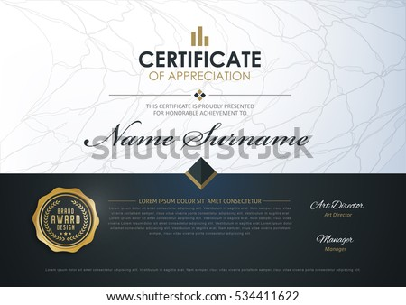 Certificate template luxury modern patterndiplomavector certificate template with luxury and modern patterndiplomavector illustration yadclub Choice Image