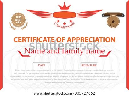 Certificate Templates Design Certificate Vector Stock Photo Photo