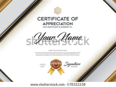 Certificate Vector Luxury Template Stock Vector 2018 578322238