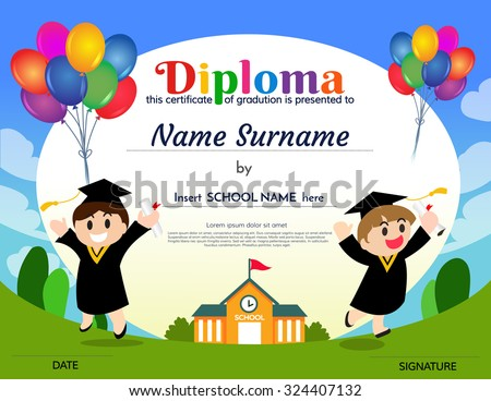Certificates kindergarten elementary school diploma certificate certificates kindergarten and elementary school diploma certificate design template background yelopaper Image collections