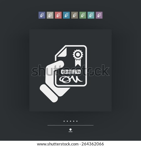 Certified document icon - stock vector