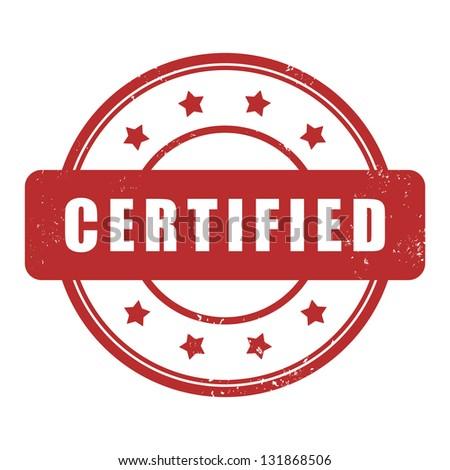 Certified stamp - stock vector