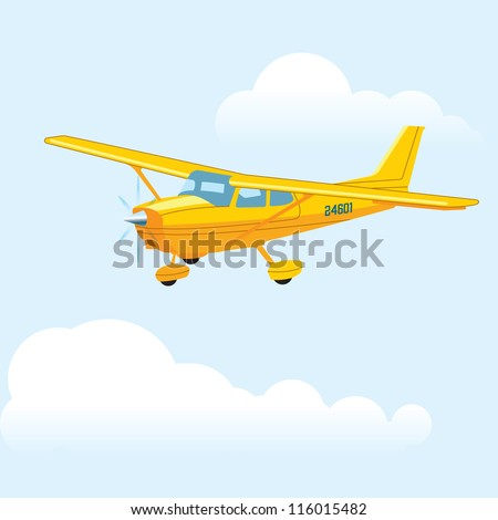 Cessna airplane - stock vector