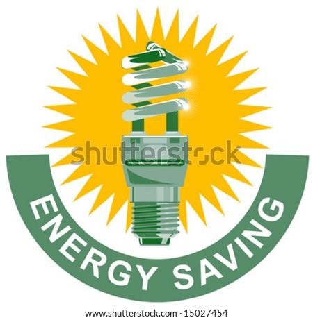 CFL energy saving - stock vector