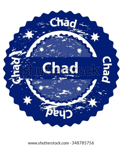 Chad Country Grunge Stamp - stock vector