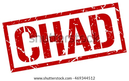 Chad stamp. red square Chad grunge stamp on white background. Chad