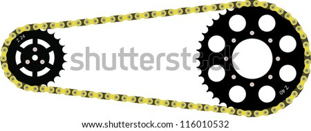 Chain drive - stock vector