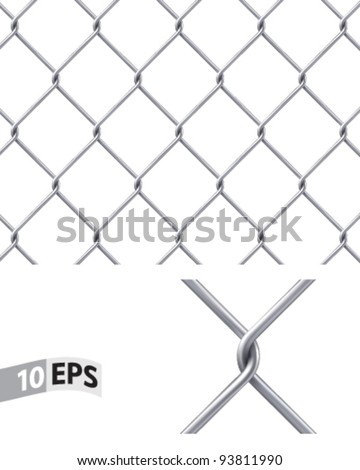 Chain Fence. Vector illustration. Pattern for continuous replicate - stock vector