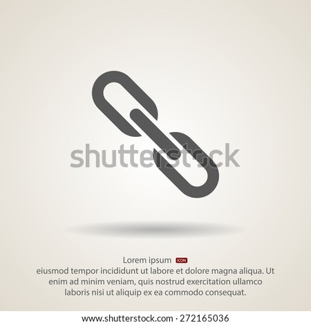 chain link  icon, vector illustration. Flat design style - stock vector