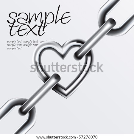 Chain Set 4 Vector Drawing - stock vector