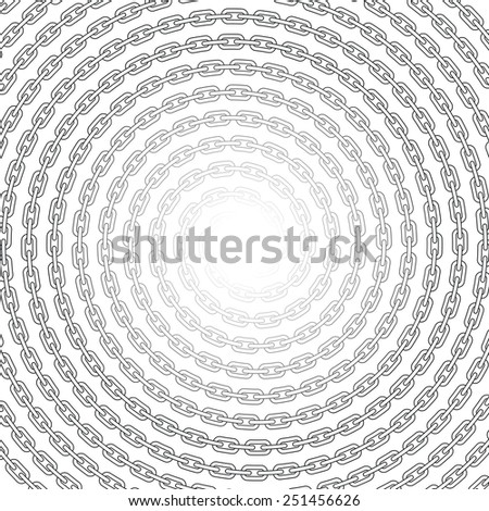 Chain spirals seamless background - stock vector