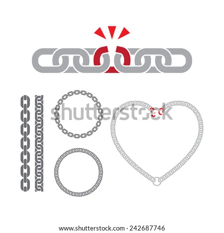 Chain Link Vector chain icon shadow reflection chain link stock vector 249694942