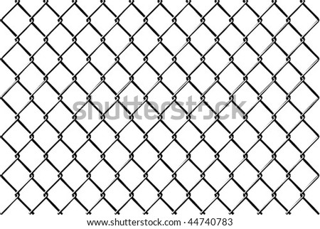 Chainlink fence Vector with reflection - stock vector