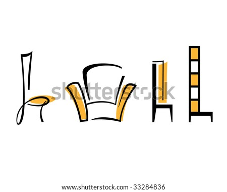 Chair - stock vector