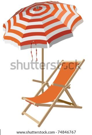Beach Chair And Umbrel...