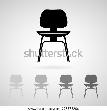 Chair icon great for any use. Vector EPS10. - stock vector