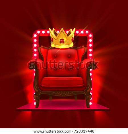 Merveilleux Chair King Casino Podium Art. Vector Illustration