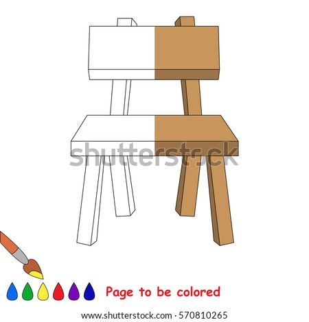 Chair The Coloring Book To Educate Preschool Kids With Easy Gaming Level Kid