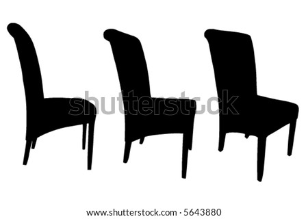 Chairs vector - stock vector