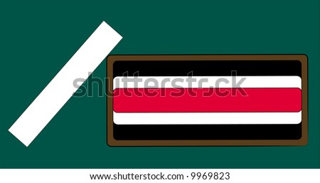 chalk and eraser on chalkboard background - vector - stock vector