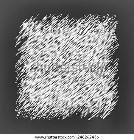 chalk board with white scribble line square pattern background(vector) - stock vector