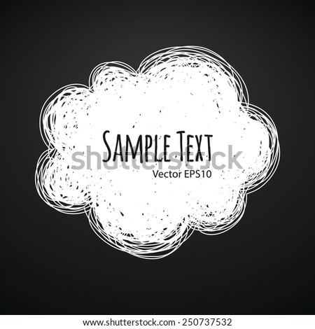 Chalk Doodle Cloud Background - stock vector