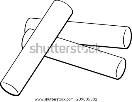 chalk sticks stock vector 209805382 shutterstock rh shutterstock com chalk clipart png chalk clipart black and white