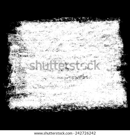 Chalk texture square banner on blackboard. Vector design elements. - stock vector