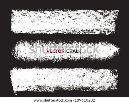 Chalk texture stripes. Vector design elements. - stock vector