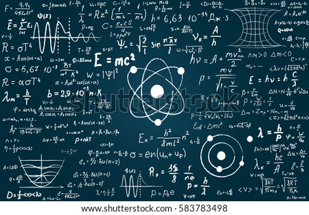 Physics And Maths Tutor >> Chalkboard Inscribed Scientific Formulas Calculations Physics Stock Vector 583783498 - Shutterstock