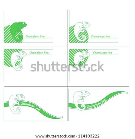 Chameleon line - stock vector