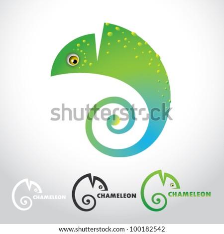 Chameleon - vector illustration - stock vector