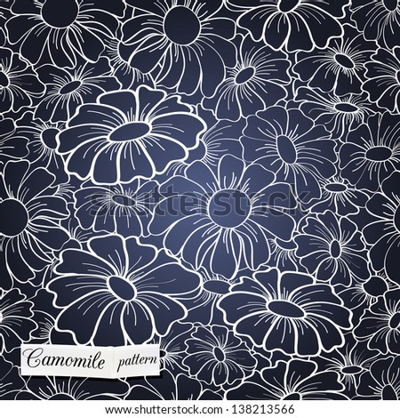 chamomile seamless pattern can be used for wallpaper, website background, textile printing - stock vector