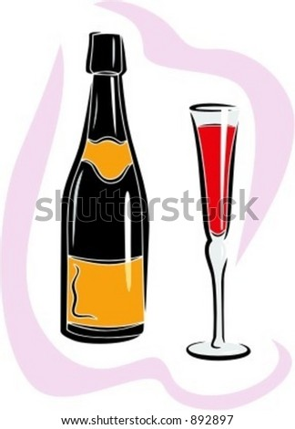 Champagne.Vector illustration