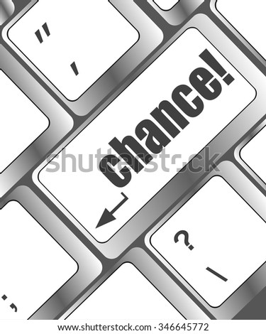 chance button on computer keyboard key vector illustration