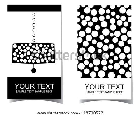 Chandelier interior design business card set stock vector royalty chandelier interior design business card set reheart Gallery