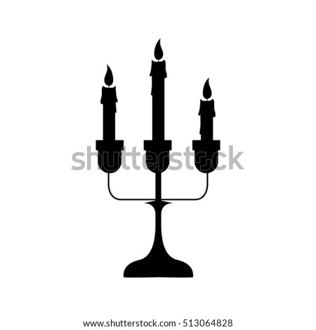 chandelier with candles icon image