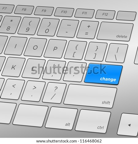 Change Keyboard - Challenging change ahead requiring one keyboard press