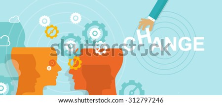change management concept improvement direction - stock vector