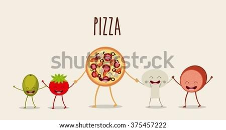 character food design  - stock vector