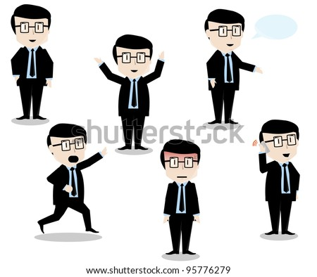 character of a young businessman to the presentation - stock vector