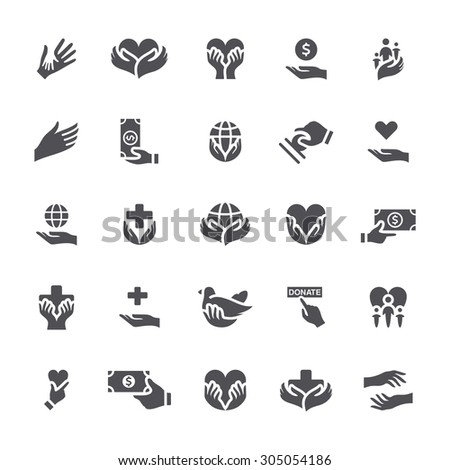 Charity icon - stock vector