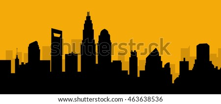 Charlotte North Carolina Skyline-Vector