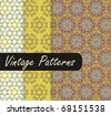 Charming Green Vintage Patterns - stock vector
