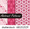 Charming Pink Patterns - stock vector