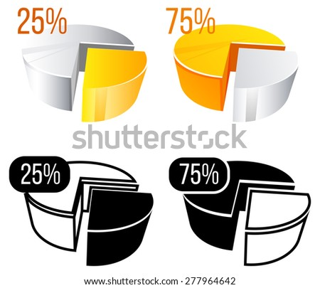 Chart Elements. Pie Chart. Illustration - stock vector