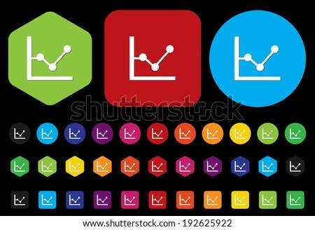 chart graph - stock vector