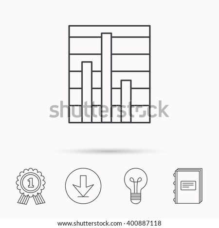Chart icon graph diagram sign demand stock vector 400887118 graph diagram sign demand reduction symbol download arrow lamp ccuart Choice Image